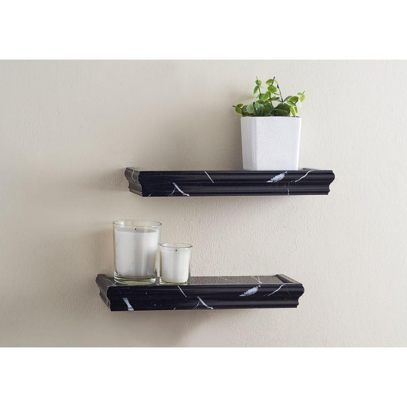 foto de Marble Shelf 2pk Black Shelving B&M Shelves Marble shelf Cheap shelves