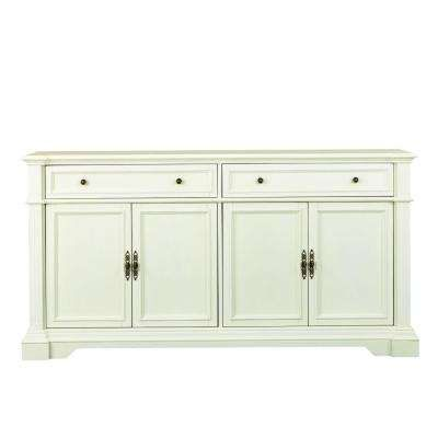 Home Decorators Collection Bufford Antique Ivory Buffet 9485300410 At The Depot