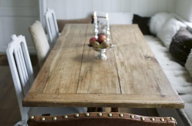 Matsalsbord i New England stil  Kitchens, Ska and Inredning