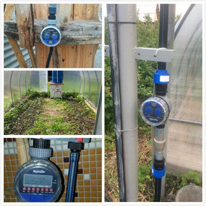 Electronic Water Hose Timer Garden Irrigation Controller Two Dial Color Blue Garden Irrigation Irrigation Controller Water Timer