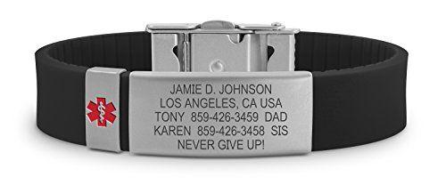 Road ID Medical Alert Bracelet - the Wrist ID Slim 2 and