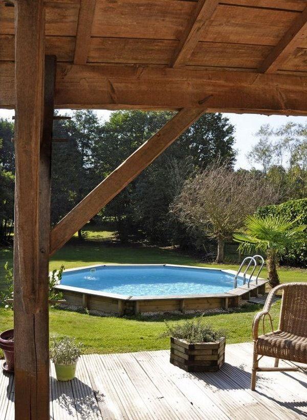 Piscinas de madera para el jardín. Piscinas desmontables ...
