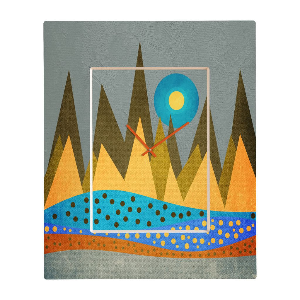 Viviana Gonzalez Retro Landscape I Rectangular Clock | DENY Designs Home Accessories
