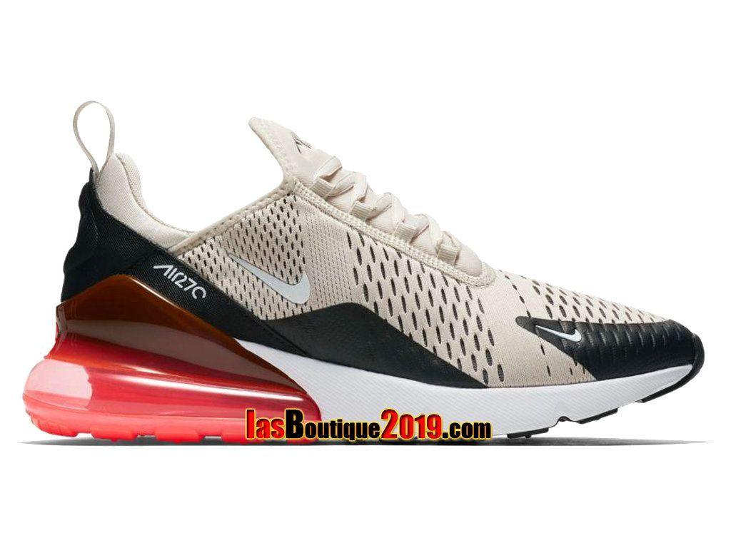 9581f039b7 Nike Air Max 270 Light Bone Hot Punch AH8050-003 Chaussure Nike Sneaker  Pour Homme