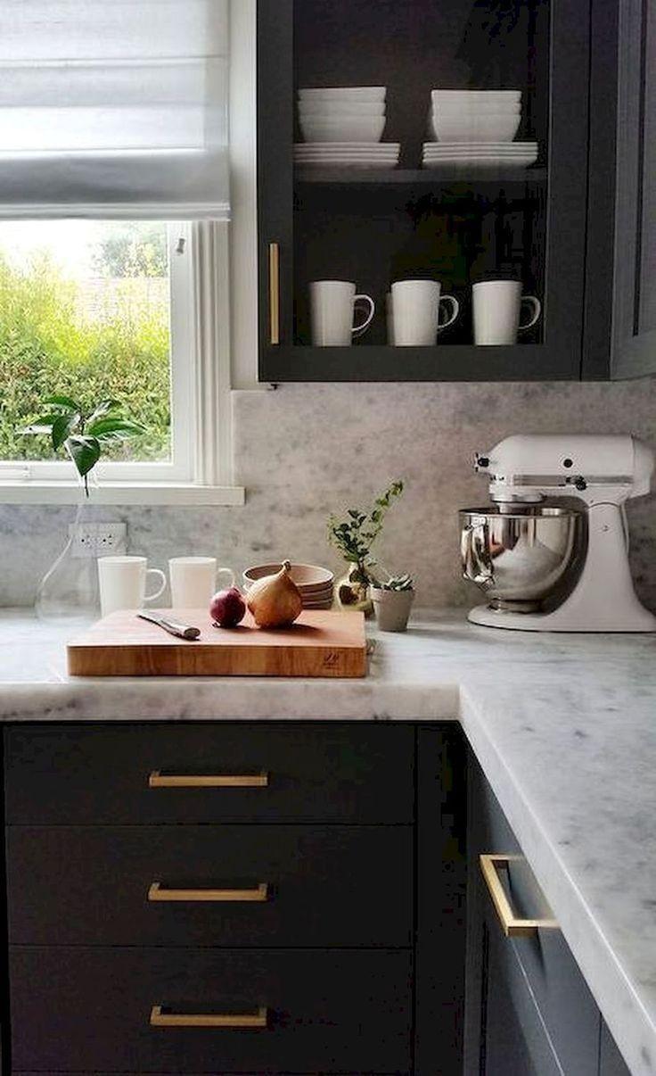 45 Fabulous Küchenschrank Design für Wohnung #darkkitchencabinets