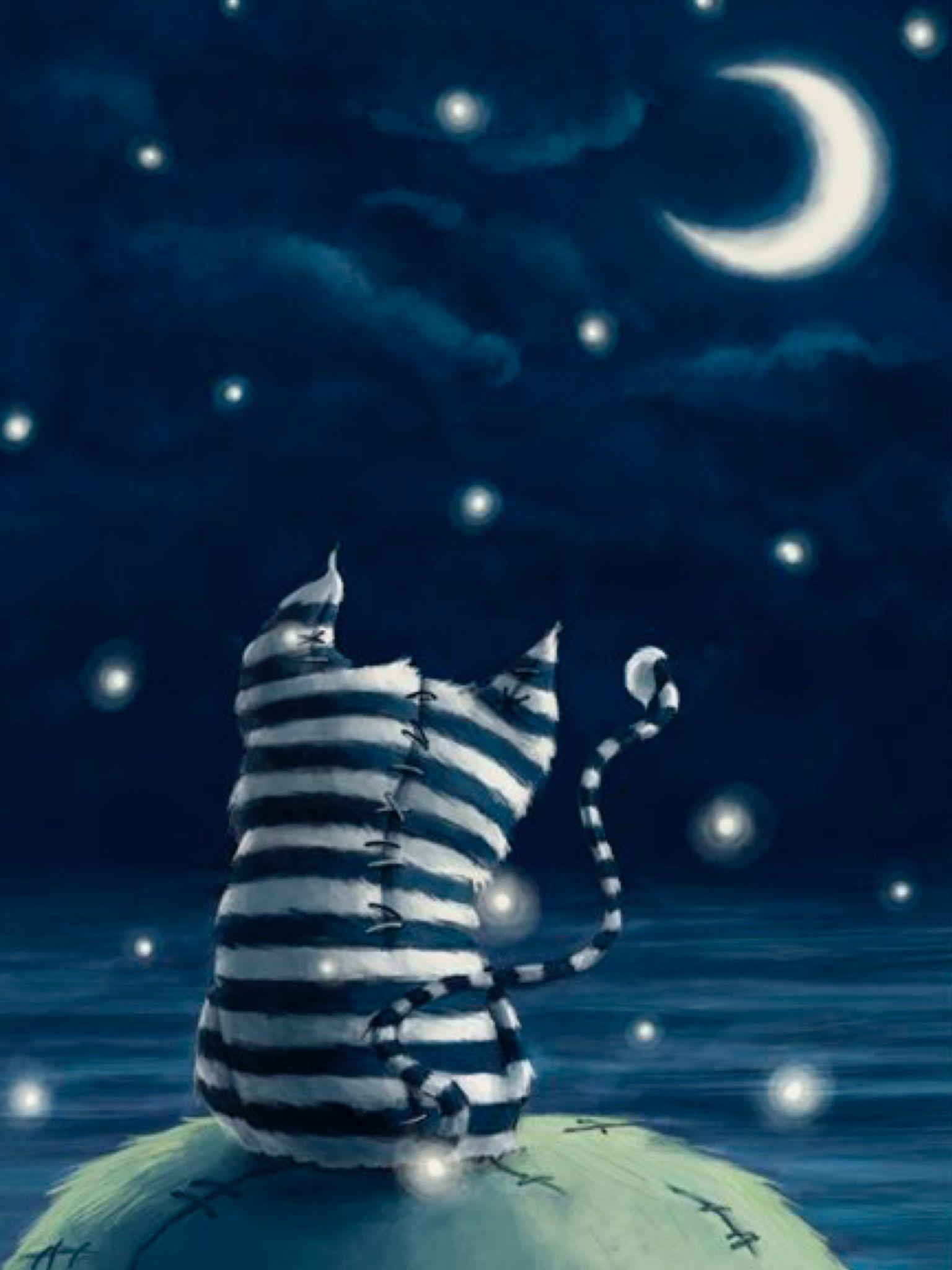 Доброй ночи скучаю открытка