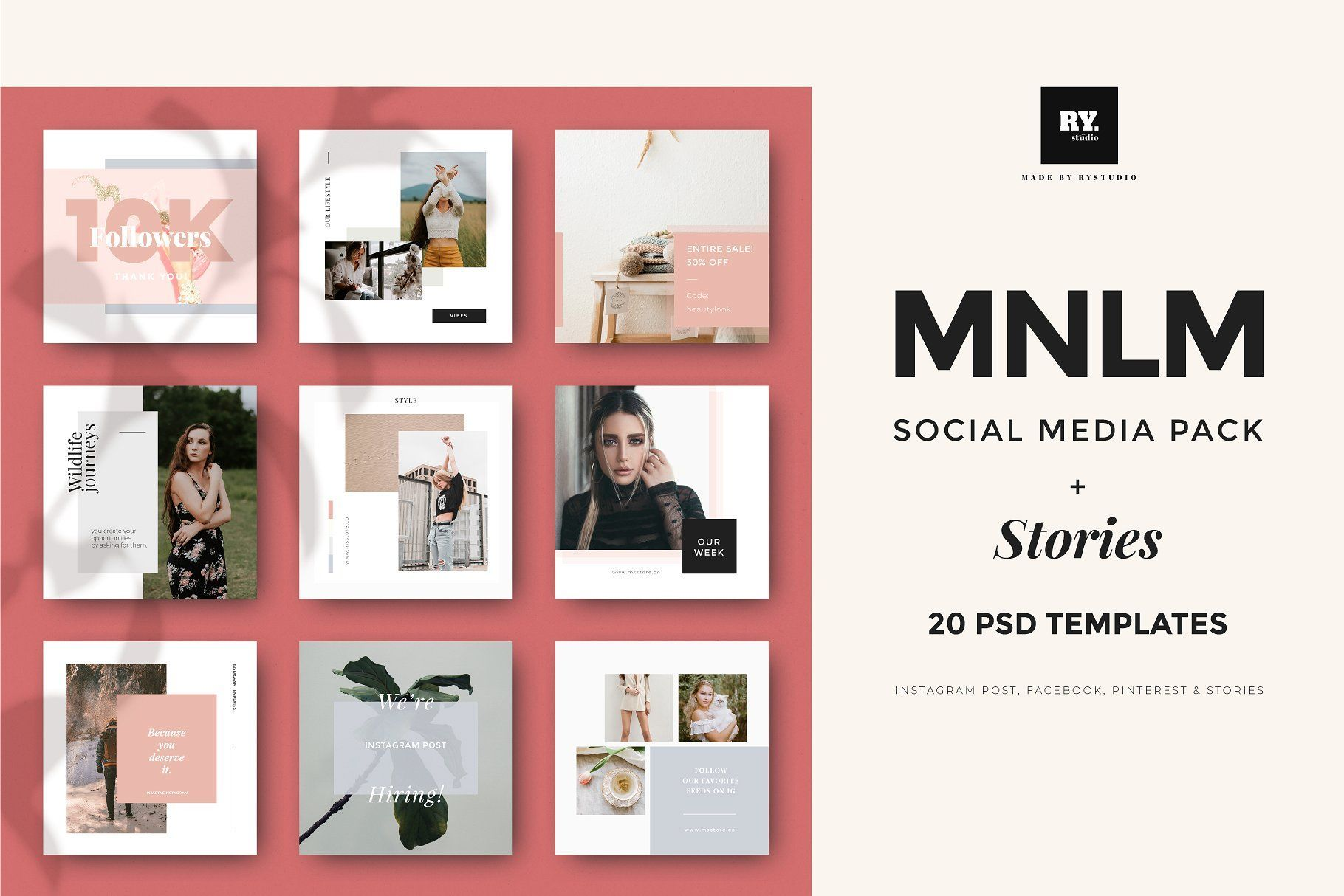 Mnml Social Media Pack Stories Social Media Pack Social Media Instagram Story Template