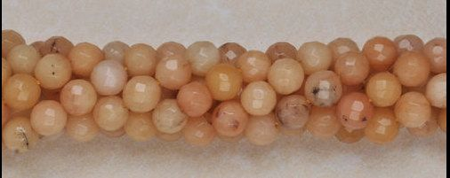 New to pinksupply on Etsy: 8mm Jewelry beads 8mm natural faceted yellow jade gemstone round beads strand 15 inches  DRW6 (4.20 USD)