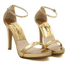 2015 Summer Rome Women Sandals Brand Design Fashion High Heels Anlke Strap Sandal Luxcury Gold Silver Gladiator Lady's Shoes