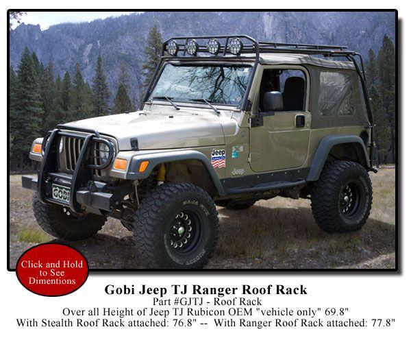 Gobi Jeep Wrangler TJ Ranger Recon Roof Rack - GJTJR ...