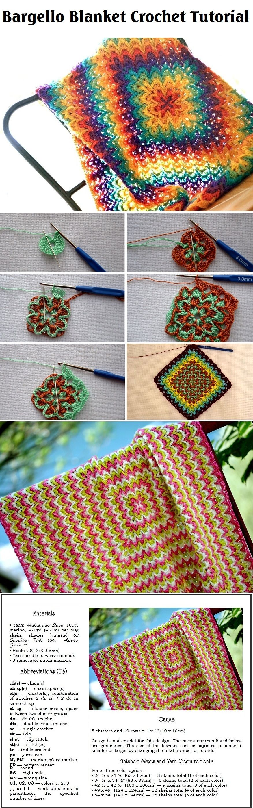 Crochet Bargello Blanket | Tejido, Manta y Ganchillo