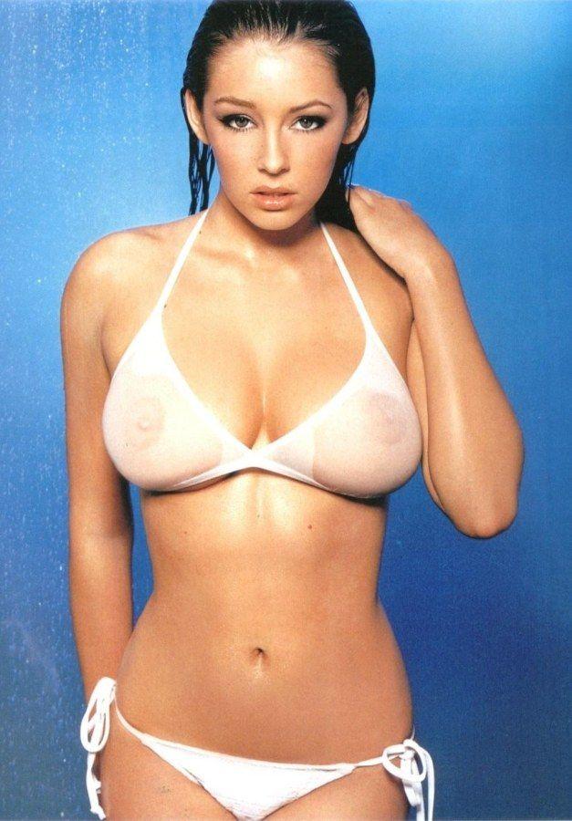 Busty sheer bikini