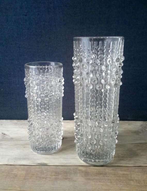 Frantisek Peceny Retro Art Glass Glass Vintage Sklo Union Candle Wax Glass Vase Pottery & Glass