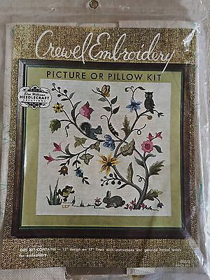 Elsa Williams Crewel Embroidery 00078 Woodland Creatures Picture