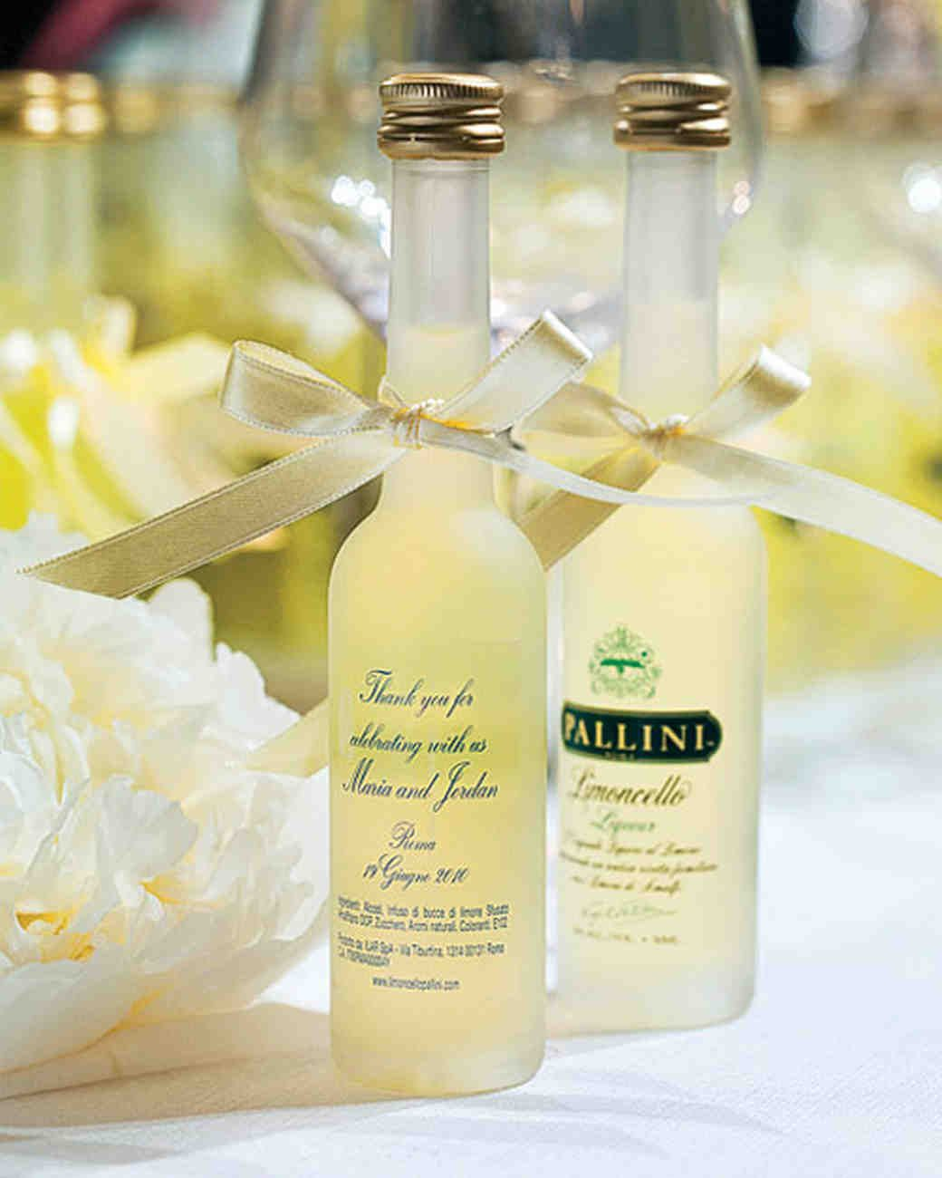 Whether Your Heritage Is Italian Or You Just Want To Infuse Yellow And Flavor Into Favors Bottles Of Limoncello Personalized With Wedding Date