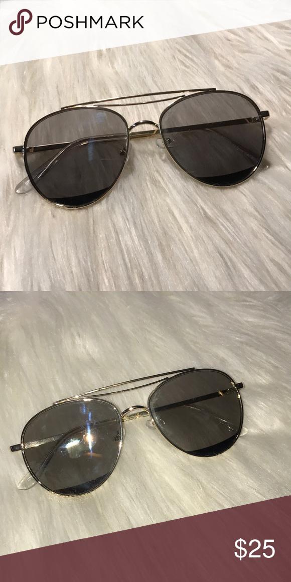76f305733f01 Gold Rim Aviator Sunglasses Gold Rim Aviator Sunglasses. Perfect for the  summer! Accessories Sunglasses