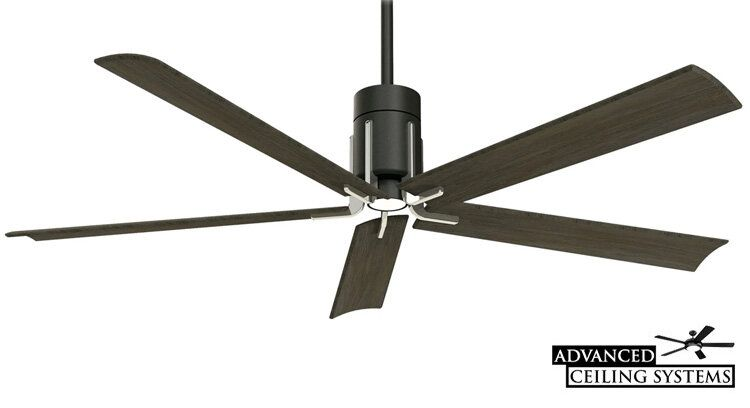 17 Black Industrial Ceiling Fans For Any Space Black Wood And Metal Finishes Advanced Ceiling Systems In 2020 Ceiling Fan Industrial Ceiling Fan Industrial Ceiling