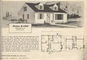 Vintage House Plans 1950s Two Story 1 1 2 Story And Ramblers Vintage House Plans Vintage House House Plans