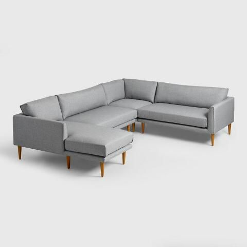 Tremendous Gray Nica Sectional Sofa Collection Things We Need Beatyapartments Chair Design Images Beatyapartmentscom