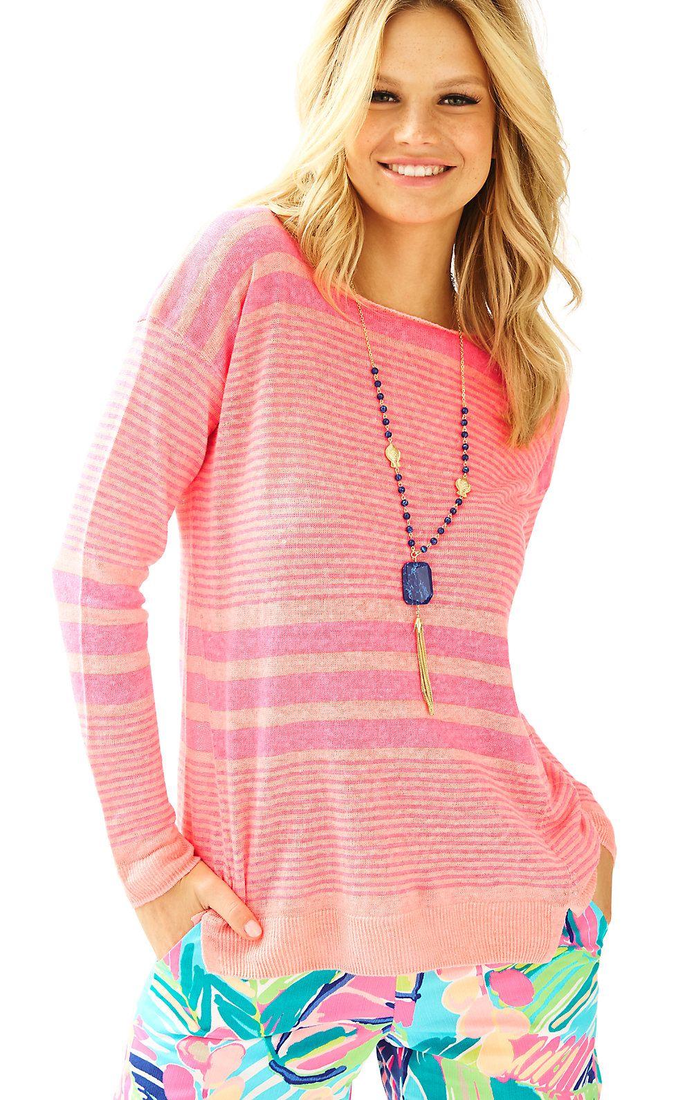 Camilla Striped Boatneck Sweater