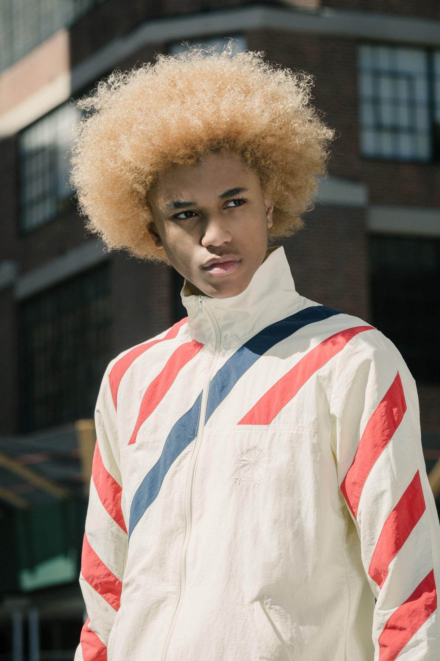 African American Black Men Dyed Hair Blonde Hair Style