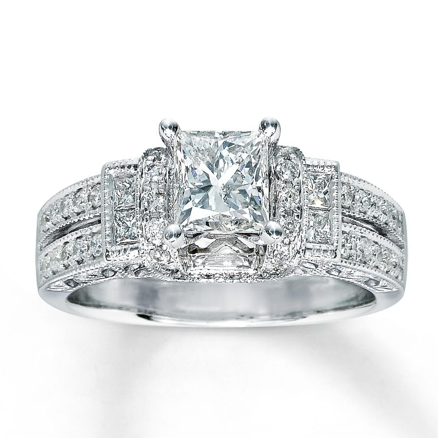 17 Best Images About Princess Cut Wedding Rings On Pinterest 2 Carat White  Gold And Wedding Band Sets. princess cut engagement rings