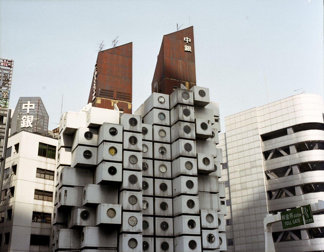 "Image result for Capsule tower ""Nakagin"", Tokyo, Japan"