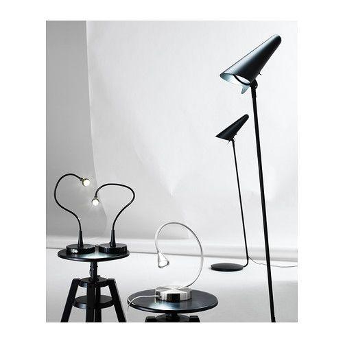 ikea stockholm stand leseleuchte led schwarz ikea light ikea stockholm led. Black Bedroom Furniture Sets. Home Design Ideas