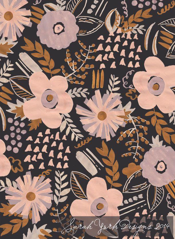 Sarah York 2014   Textile & Surface Pattern Design   http://www.sarahyorkdesigns.com