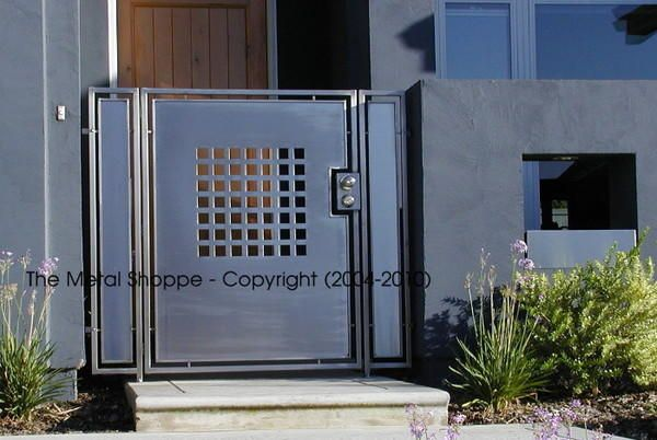 Custom Stainless Steel Courtyard Gate / Location Fresno CA & Custom Stainless Steel Courtyard Gate / Location: Fresno CA ... pezcame.com