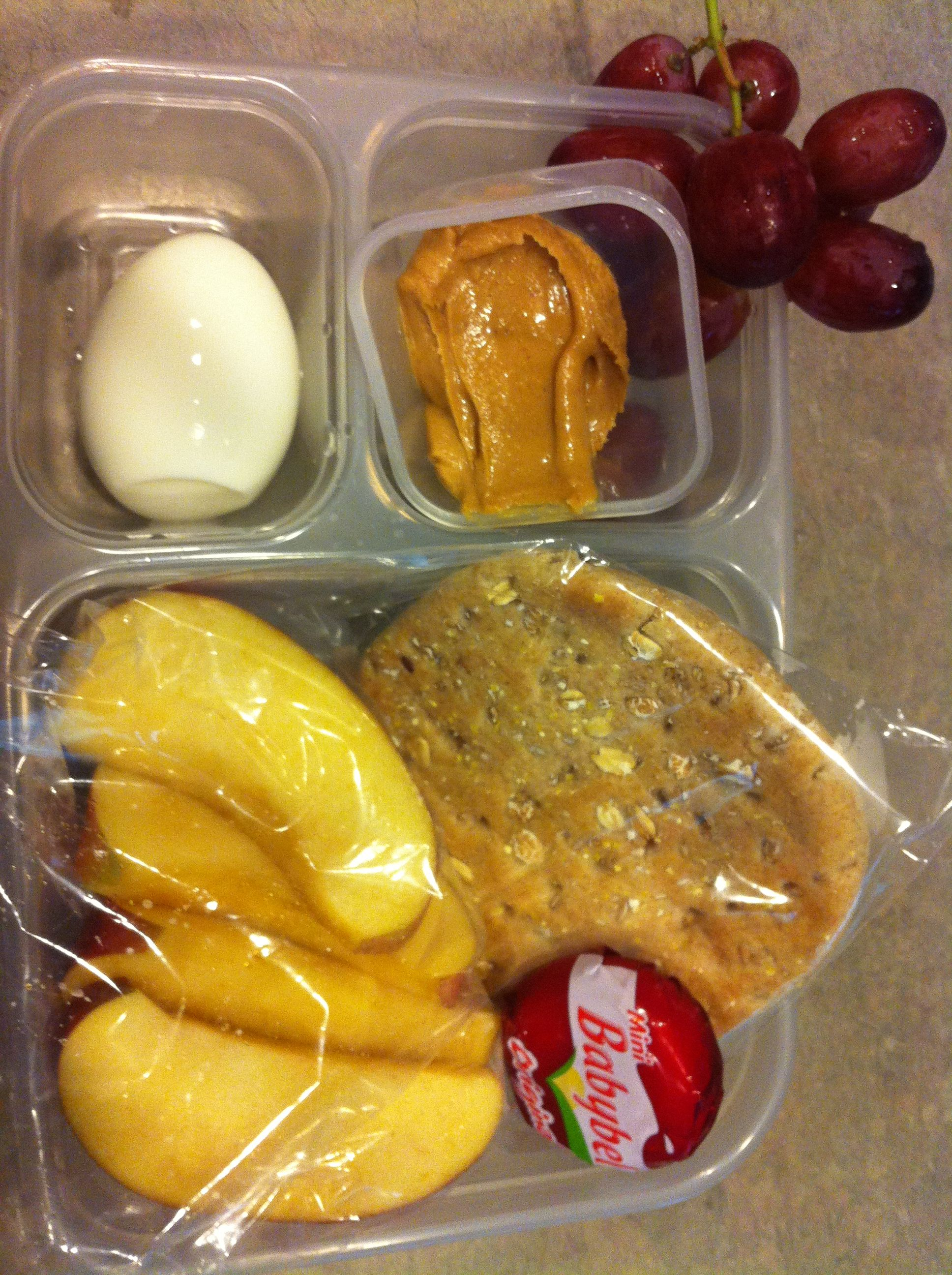 Homemade Starbucks Protein Bistro Box 1 Hard Boiled Egg A Dollop Of The Bees Knees