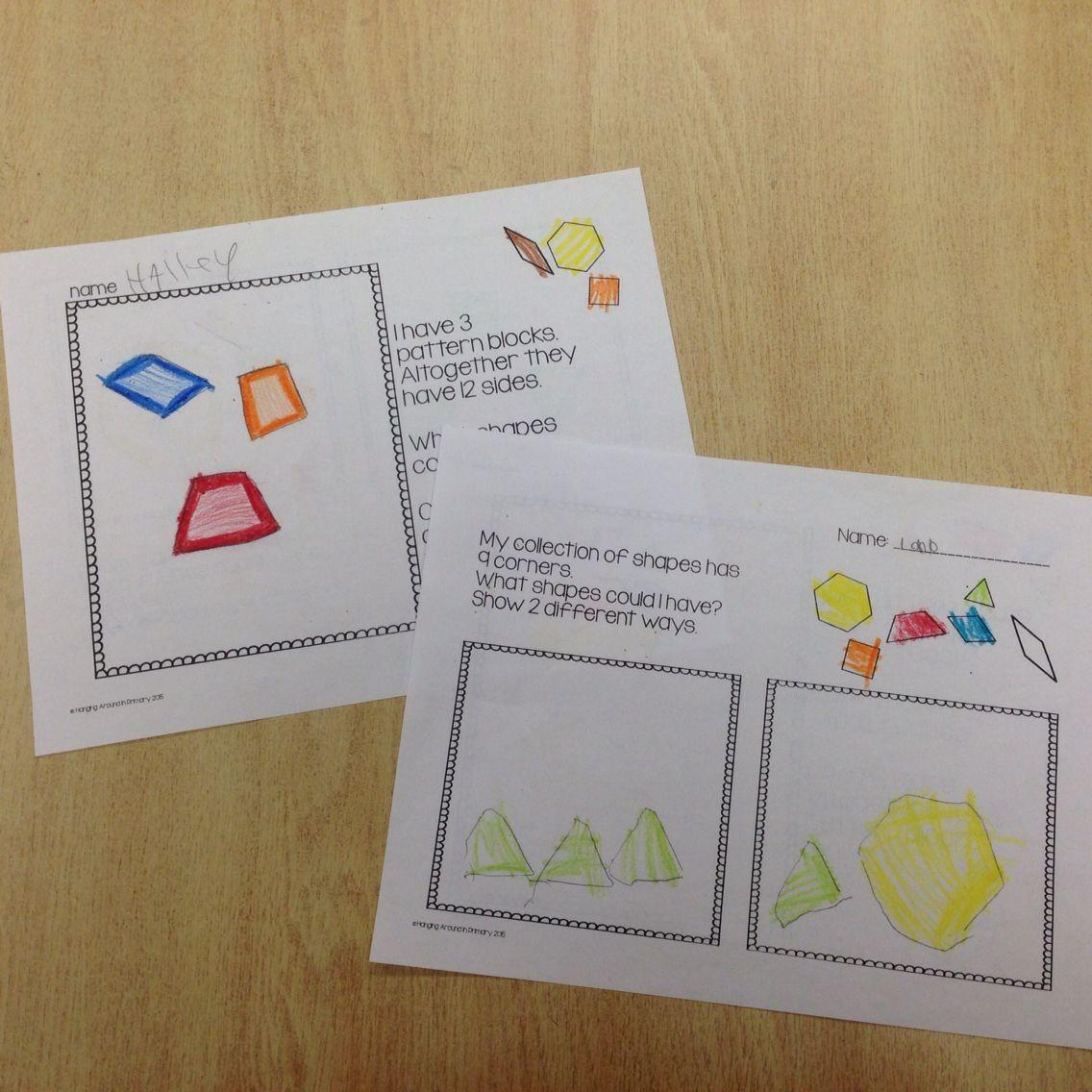 2D Geometry Problem Solving Activities | Ausschneiden und Festkleben ...