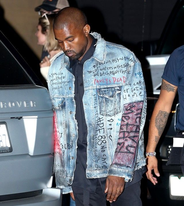 Kim And Kanye S Hi Mum I M Dead Denim Jacket Estilo Jeans Jeans Masculino Jaquetas De Ganga