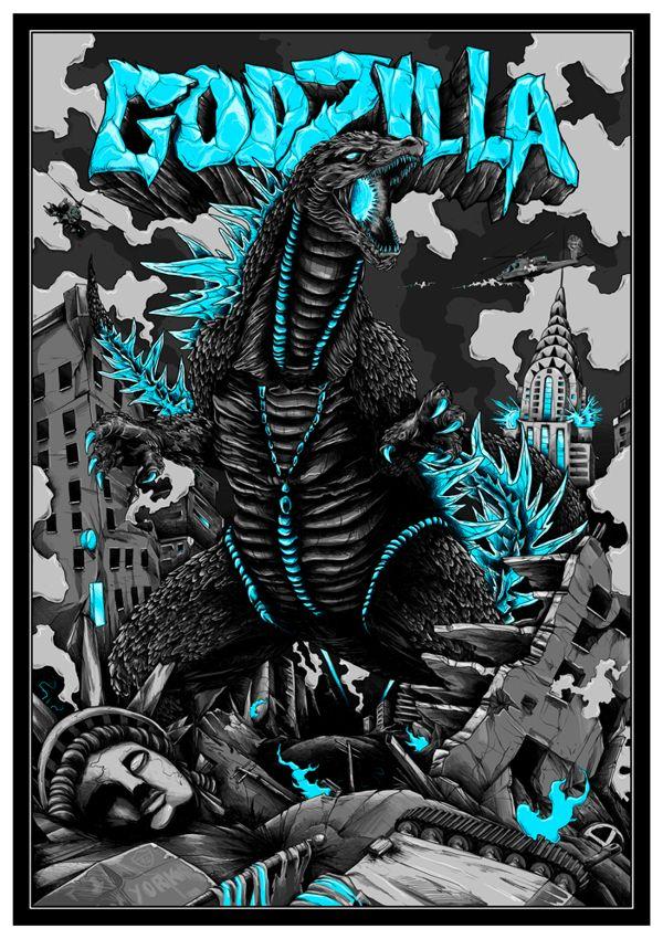 Godzilla - Benji Charnock on Behance