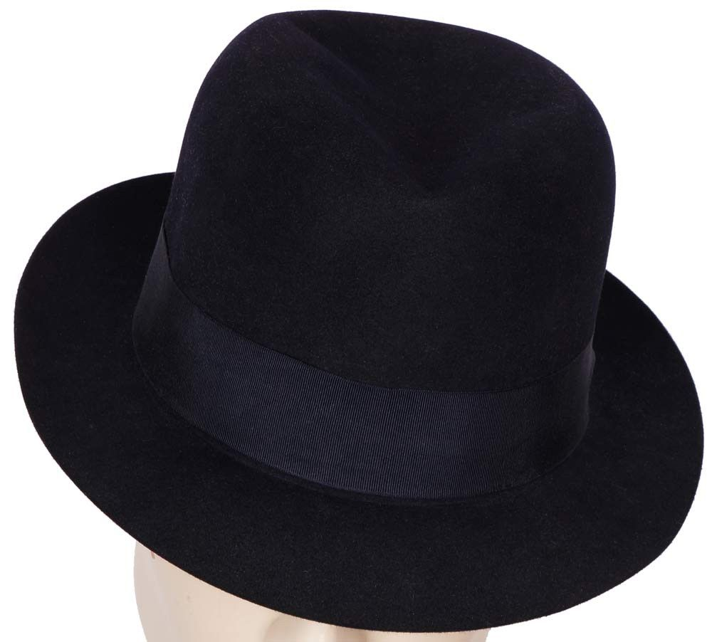 a4c5449a8 Vintage 1950s Scott and Co of London Mens Trilby Fedora Hat Midnight ...