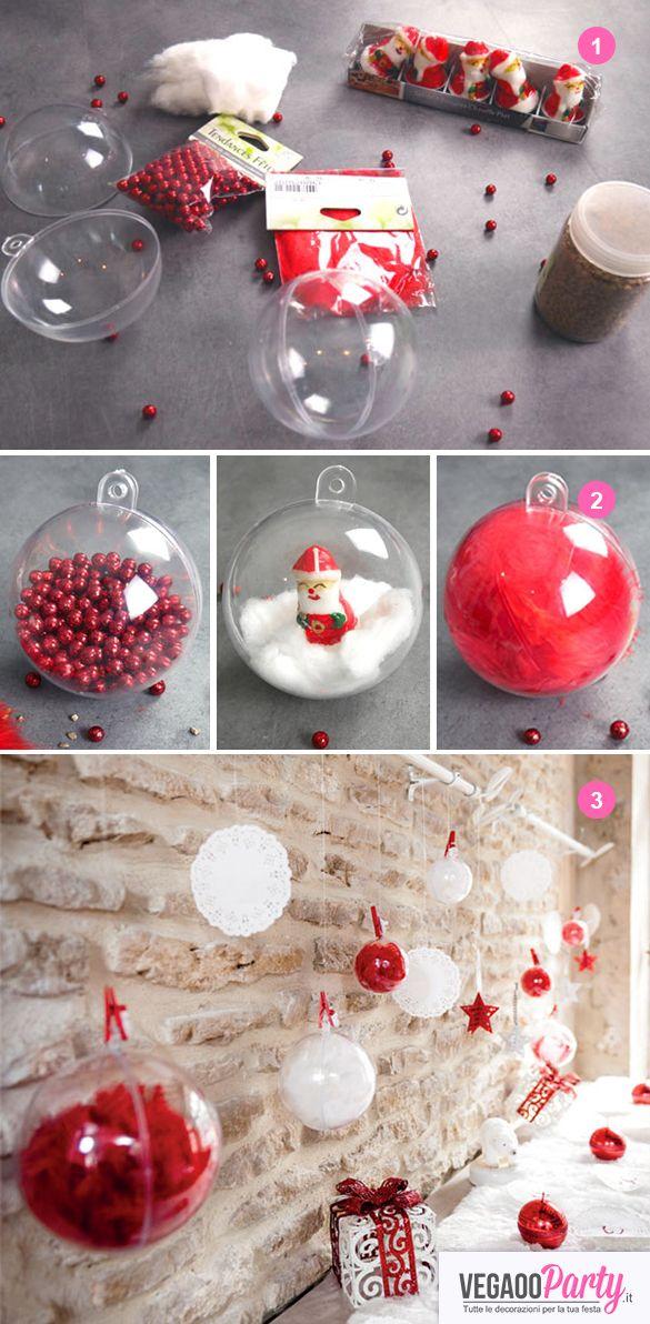 Palle Di Natale Fai Da Te.Come Personalizzare Le Palline Di Natale Trasparenti Idee
