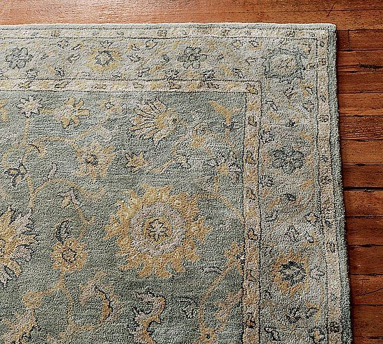Pottery Barn Blue Rug Home Decor