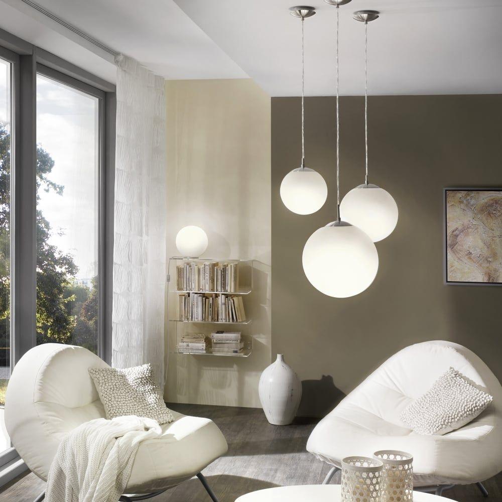 Rondo Large Opal White Glass Globe Pendant Light Globe Pendant Light Glass Globe Pendant Light Eglo