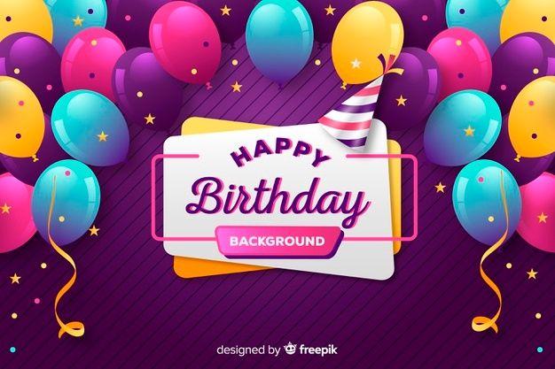 Hand Drawn Happy Birthday Cards Collection Vector Free Download Birthday Balloons Happy Birthday Celebration Happy Birthday Frame