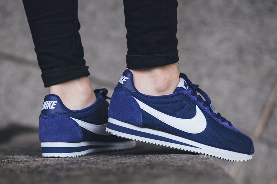 new products 9203c f5bbb Nike Classic Cortez Trainers In Blue smithland.co.uk