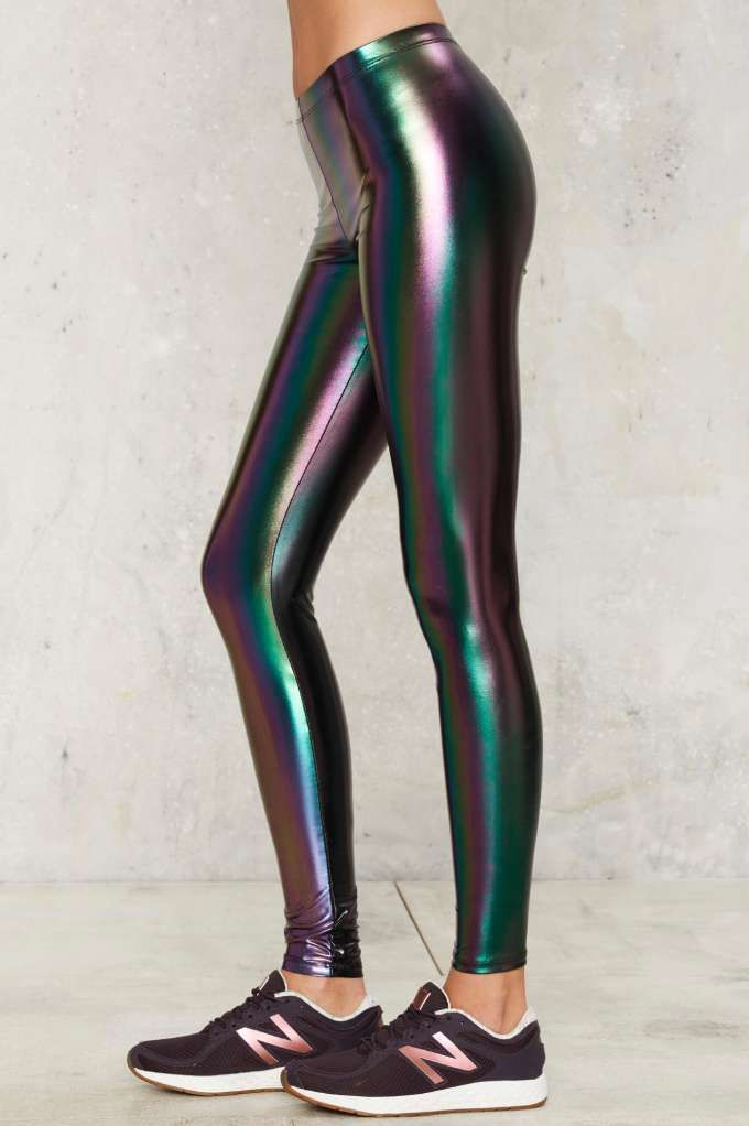 4dc365c138f56 Nasty Gal Trip and Slide Hologram Leggings - Clothes | Fall Essentials |  Best Sellers | Pants | Legging