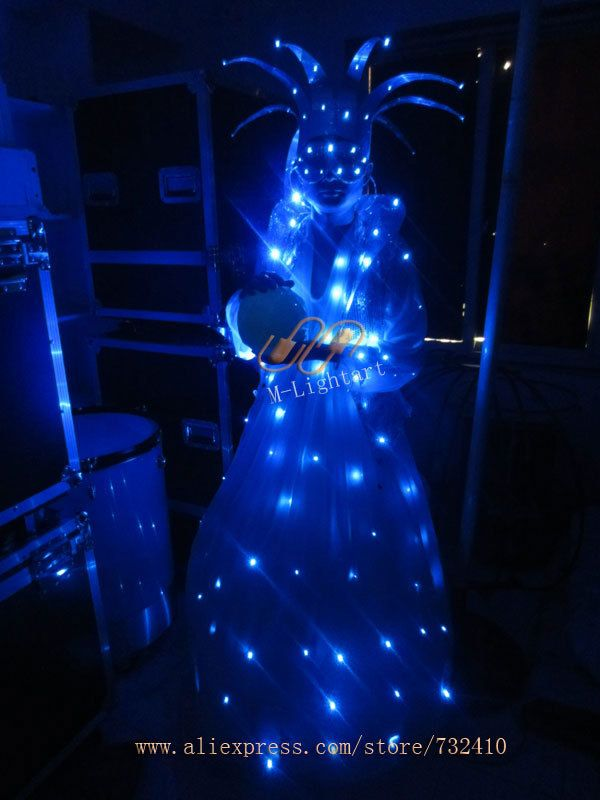 new magic crystal ball clothing performance costume stage performance led light up clothing. Black Bedroom Furniture Sets. Home Design Ideas