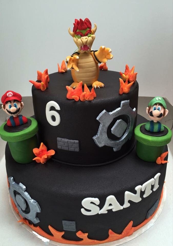 Bowser Mario And Luigi Cake Made By Angelique Bond Cakes By Me - Bowser birthday cake