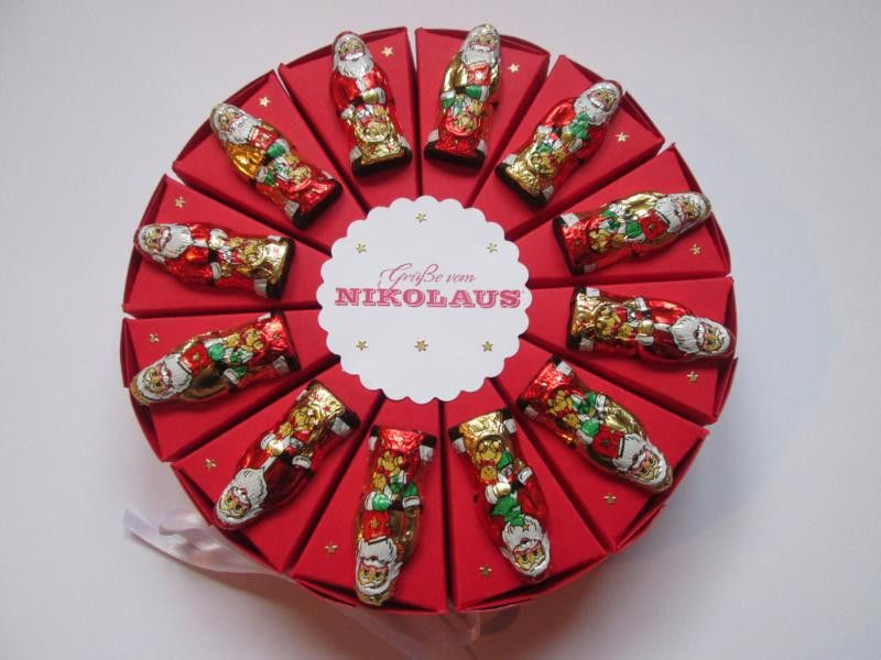 torte zum nikolaus geldgeschenk schokolade von deko ideenreich auf weihnachten. Black Bedroom Furniture Sets. Home Design Ideas