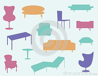 Set Of Furniture Icons - Download From Over 50 Million High Quality Stock Photos, Images, Vectors. Sign up for FREE today. Image: 50856319