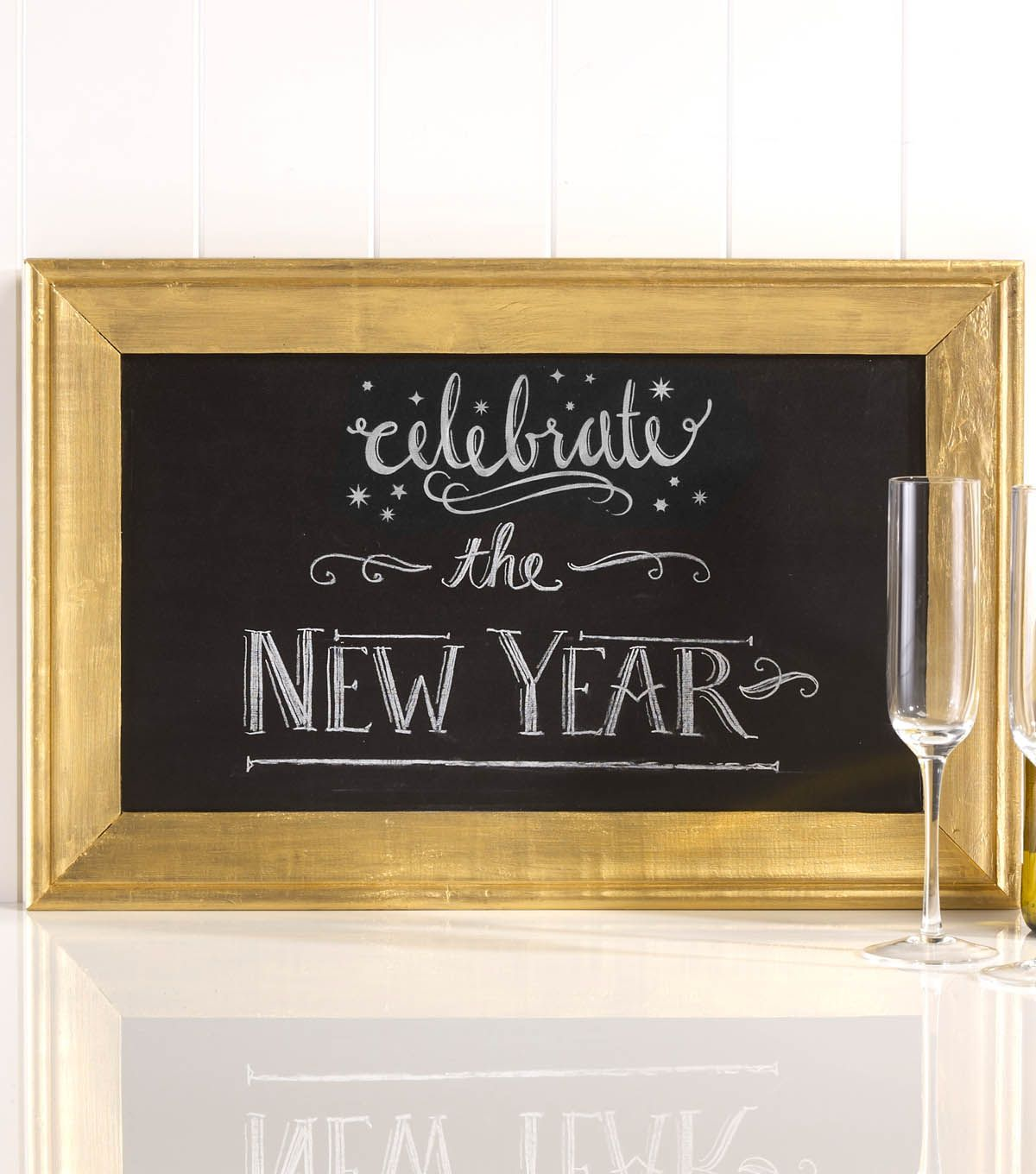 Gold Framed Holiday Chalkboard | DIY New Year's Eve ...