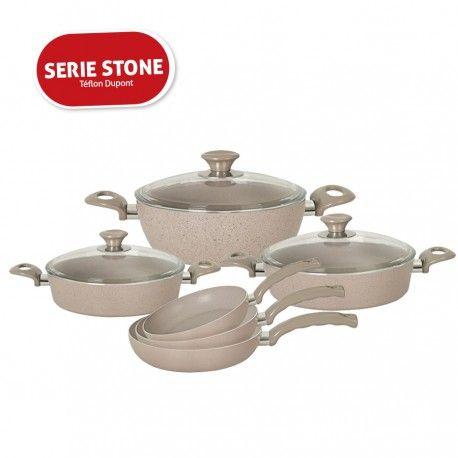Pack Stone Series Batterie De Cuisine 6 Pieces En Teflon