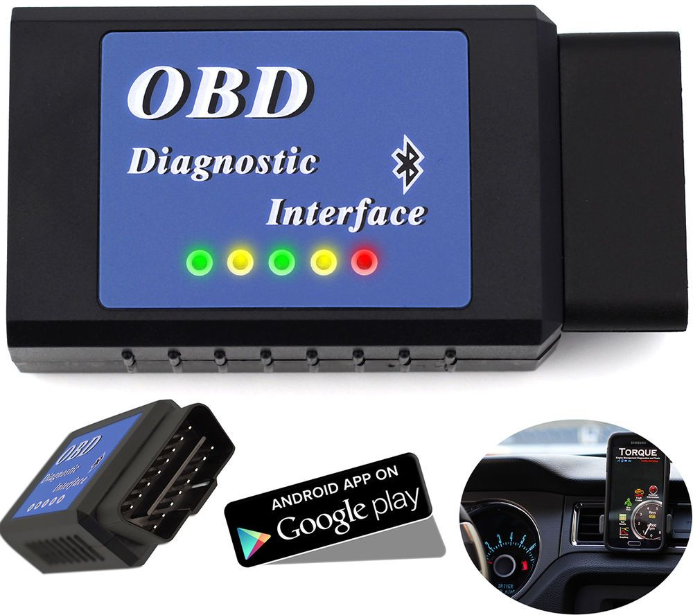 OBDII Scanner Code Reader Bluetooth CAN OBD2 Scan Tool for