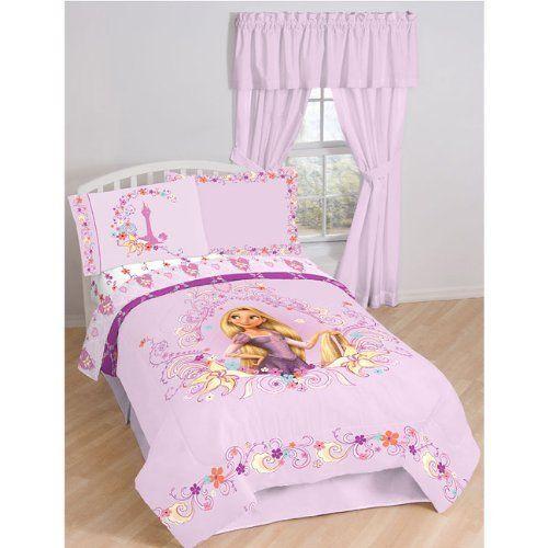 Disney's Tangled Rapunzel Twin Comforter & Sheet Set Stock (4 Piece Bed In  A Bag