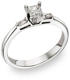 Princess Cut Diamond Ring With Baguettes Ringscladdagh